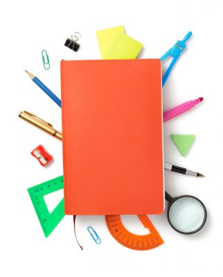 office supplies isolated at white background